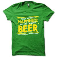 """ Beer is Happiness"" T-Shirt, Men,  green, l"
