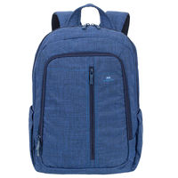 """Riva Case 7560 Laptop Canvas Backpack 15.6"""" , Blue"""