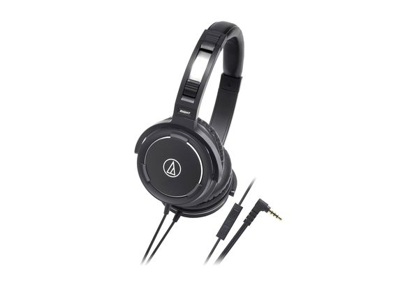 Audio Technica ATH-WS55IBK Solid Bass Over-Ear Headset for iPod/iPhone/iPad Black
