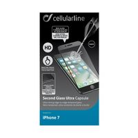 Cellularline Second Glass Ultra Capsule iPhone 7, Black