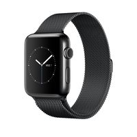 Apple Watch Space Black Stainless Steel Case with Space Black Milanese Loop