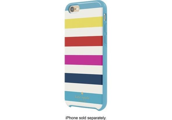 Kate Spade New York Hybrid Hard Shell Case for Apple iPhone 6 and 6s, Candy Stripe Multi