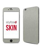 Stylizedd Premium Vinyl Skin Decal Body Wrap for Apple iPhone 6S - Brushed Aluminum