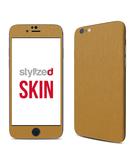 Stylizedd Premium Vinyl Skin Decal Body Wrap for Apple iPhone 6S - Brushed Gold