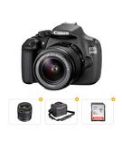 Ultimate DSLR Bundle - Canon EOS 1200D with 18-55 MM Lens+ Canon EF50MM F/1.8 STM Lens+ DSLR Camera Bag+ SanDisk 8GB Memory Card
