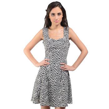 Black White Short Dress 7P15J34, m