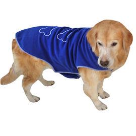 Zorba Designer Winter Fleece Jacket for Medium Breed Dogs, blue, 22 inch