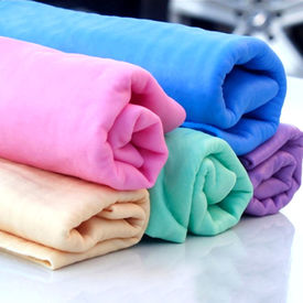 Puppy Love PVA Chamois Web Absorbent Towels for All Pets, yellow, universal