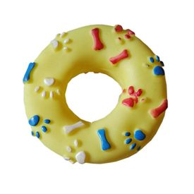 Canine Vinyl Plastic Donut Ring Squeaky Cat & Dog Toy, 5 inch, pink