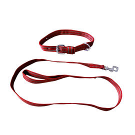 Kennel High Quality Nylon Collar with Lead Set for Medium to Large Dogs, red