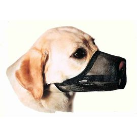 Canine Nylon Mesh Adjustible Muzzle for Small to Medium Dogs, medium, red