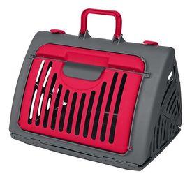 SportPet Travel Master Portable Cat & Dog Carrier, red