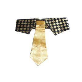 Zorba Designer Sparkler Fancy Collar with Tie for Dogs, golden, medium
