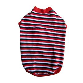 Rays Striped Woollen Sweater for Medium Dogs, 22 inch, red  navy & white
