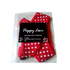 Puppy Love Spotted Cotton Vest Harness for Small to Medium Breed Dogs, x large , red