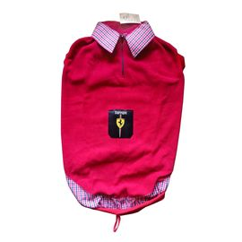 Rays Premium Double Fleece Warm Collar Tshirt for Large Dogs, red ferrari, 26 inch