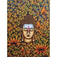 Canvas Wall Painting Lord Buddha Face