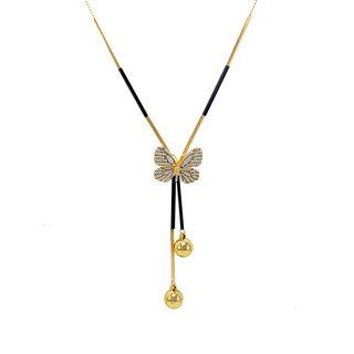 Gorgeous Gold Tone Butterfly Fashion Pendant