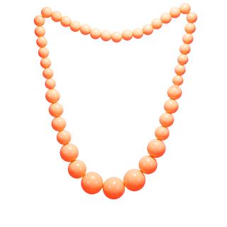 Beautiful Orange Balls Stretchable Fashion Necklace