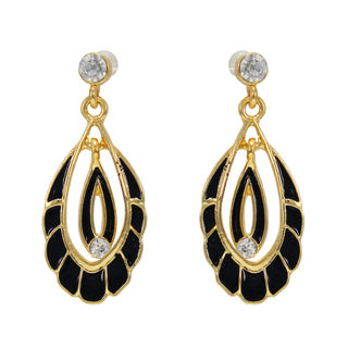 Black And Golden Fashion Alloy Danglers