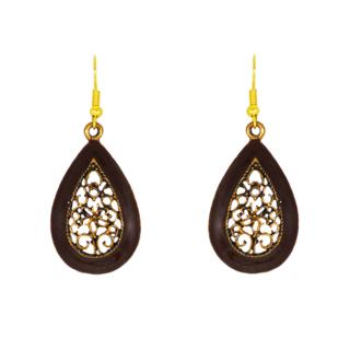 Water Drop Shape Brown Dangler Earring For Women