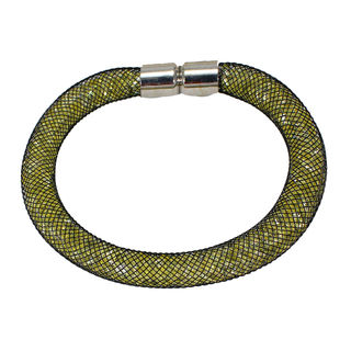 Light Green Fashion Bracelet With Black Contrast For Women, free size