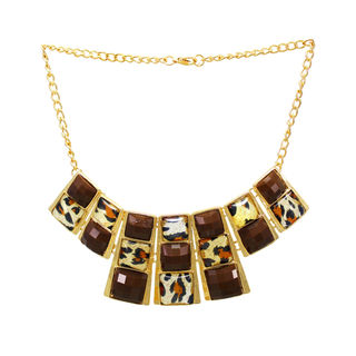 Bold Leopard Print Necklace For Women