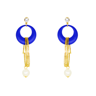 Royal Blue Fashion Dangler With Golden Strings