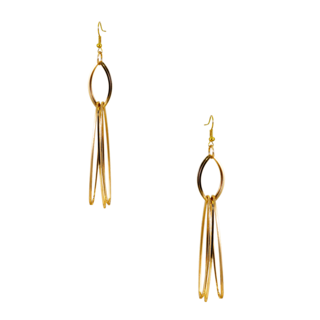 Golden Long & Drop Fashion Dangler Earrings For Women
