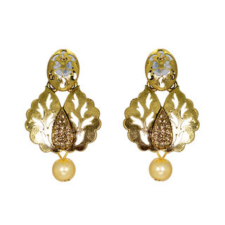 Alluring Gold Tone Danglers Earrings