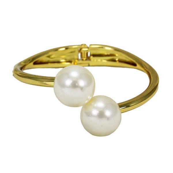 Golden Pearl Adorned Adjustable Fashion Bracelet For Girls, adjustable