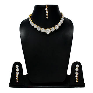 White Stones Adorned Beautiful Fashion Necklace
