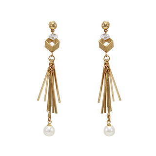Golden Long Drop Fashion Earrings For Women