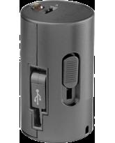 INSTAPOW CORDLESS MICRO USB POWERBANK 800MAH,  metallic grey