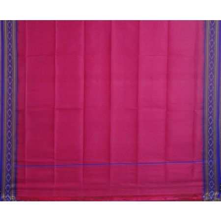 OSS1111: Pink color Handloom Silk Utari for Men during Puja or worship