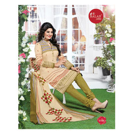 New Designer Daily Wear Beige Cotton Suits