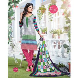 Designer Cotton Suits - Fancy Party Wear Churidar Salwar Suit with Dupatta