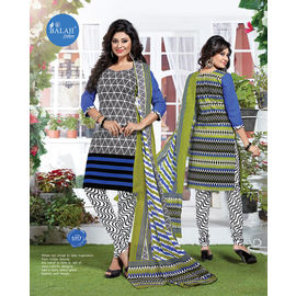 Latest Design Daily/Casual Wear Multicolor Churidar Cotton Salwar Suit with Dupatta