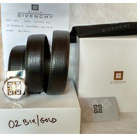 Belt For Men - Givenchy Gold Buckle Black Leather