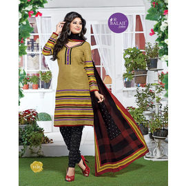 Multicolor Cotton Suits - Latest Designer Party/Daily Wear Churidar Salwar Suit with Dupatta