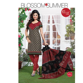Multicolor Cotton Suits - Designer Casual/Daily Wear Churidar Salwar Suit with Dupatta