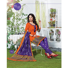 Designer Cotton Suits - Fancy Casual Wear Churidar Salwar Suit with Dupatta