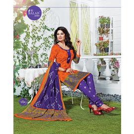 Designer Cotton Suits - Fancy Casual Wear Churidar Salwar Suit with Dupatta