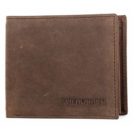 WILDHORN New HIGH Quality RFID Protected Men' S Genuine Leather Wallet/RFID Blocking Wallet for Men (TAN HUNETR)