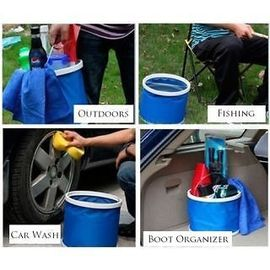 Waterproof Collapsible 9 Liters Folding Foldaway Collapsible Bucket