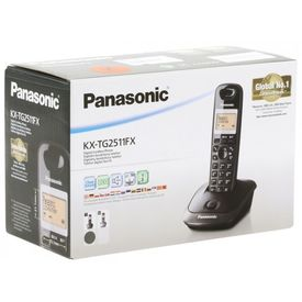 Panasonic KX-TG2511FX Basic Cordless Black for Home and Office Use