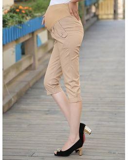 Beige Formal Maternity Short Pant, large