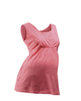 Maternity Wear - Comfortable Sleeveless Nursing top, coral, xl