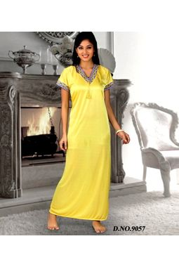 One piece exclusive satin nighty - JKHNS - 1P - 9057, catalog yellow