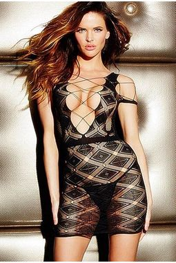 Deep V Diamond See through mini dress - JKDLLC21522, black, free  30-34 bust  30-34 waist  30-34 hips , 1 piece lingerie  thong not included